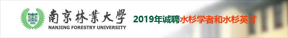 2019年南京林业大学诚聘水杉学者和水杉英才